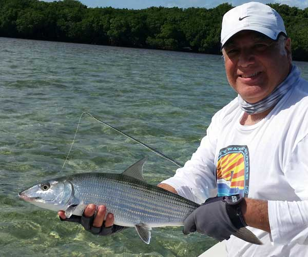 bonefish caught on a fly rod