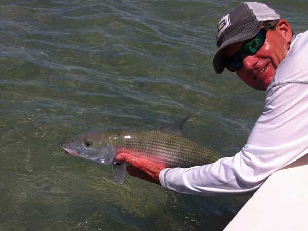 releasing a good size bonefish