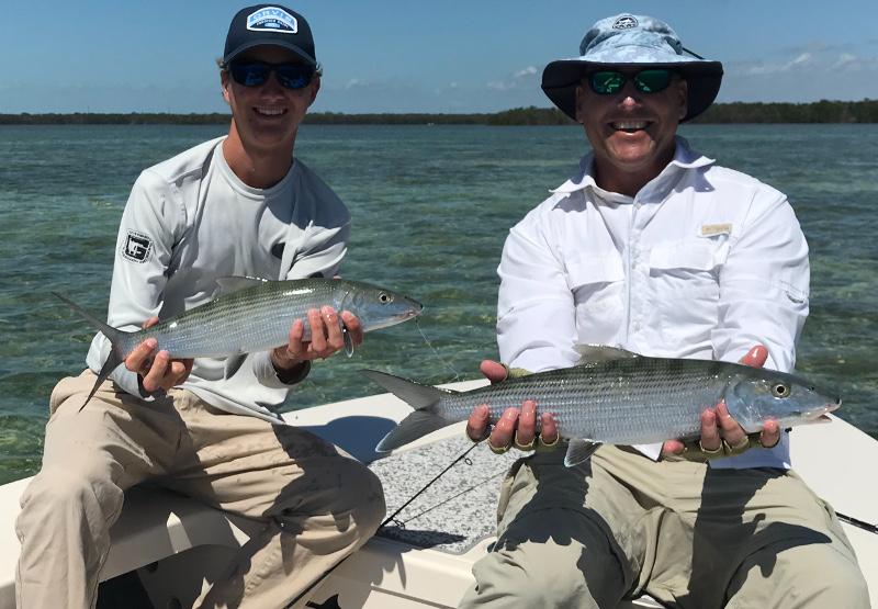 two bonefish caught at the same time