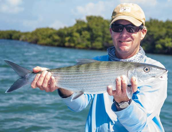 image of bonefish caught in sands cut
