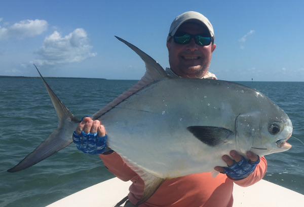 permit caught on fly rod