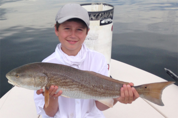 14 yr old catches a nice fish